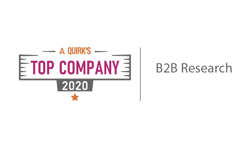 Quirks Top B2B Market Research Company