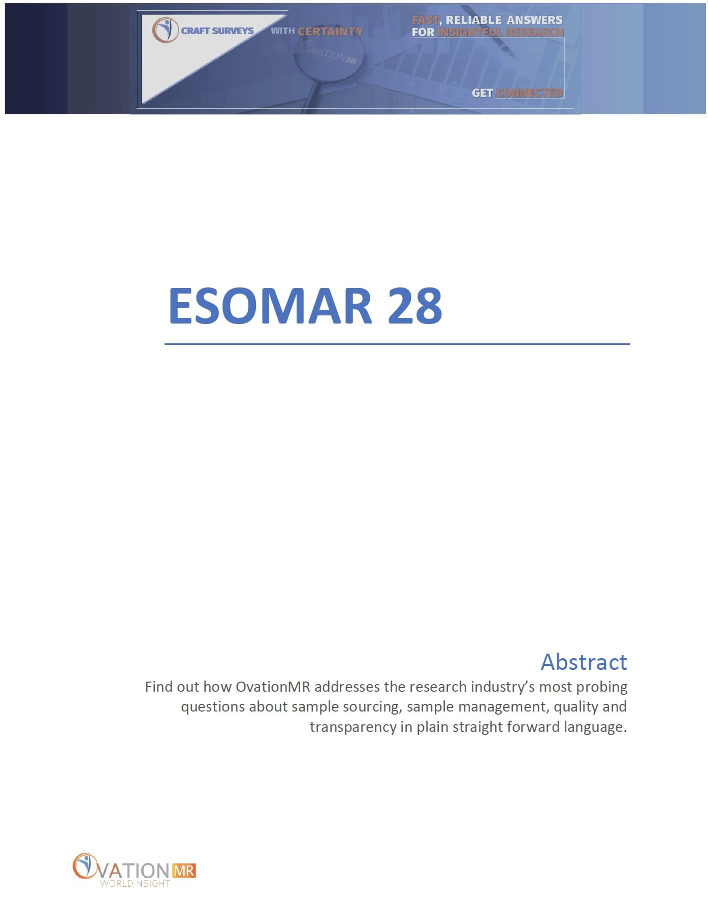 ESOMAR28 Cover 2021